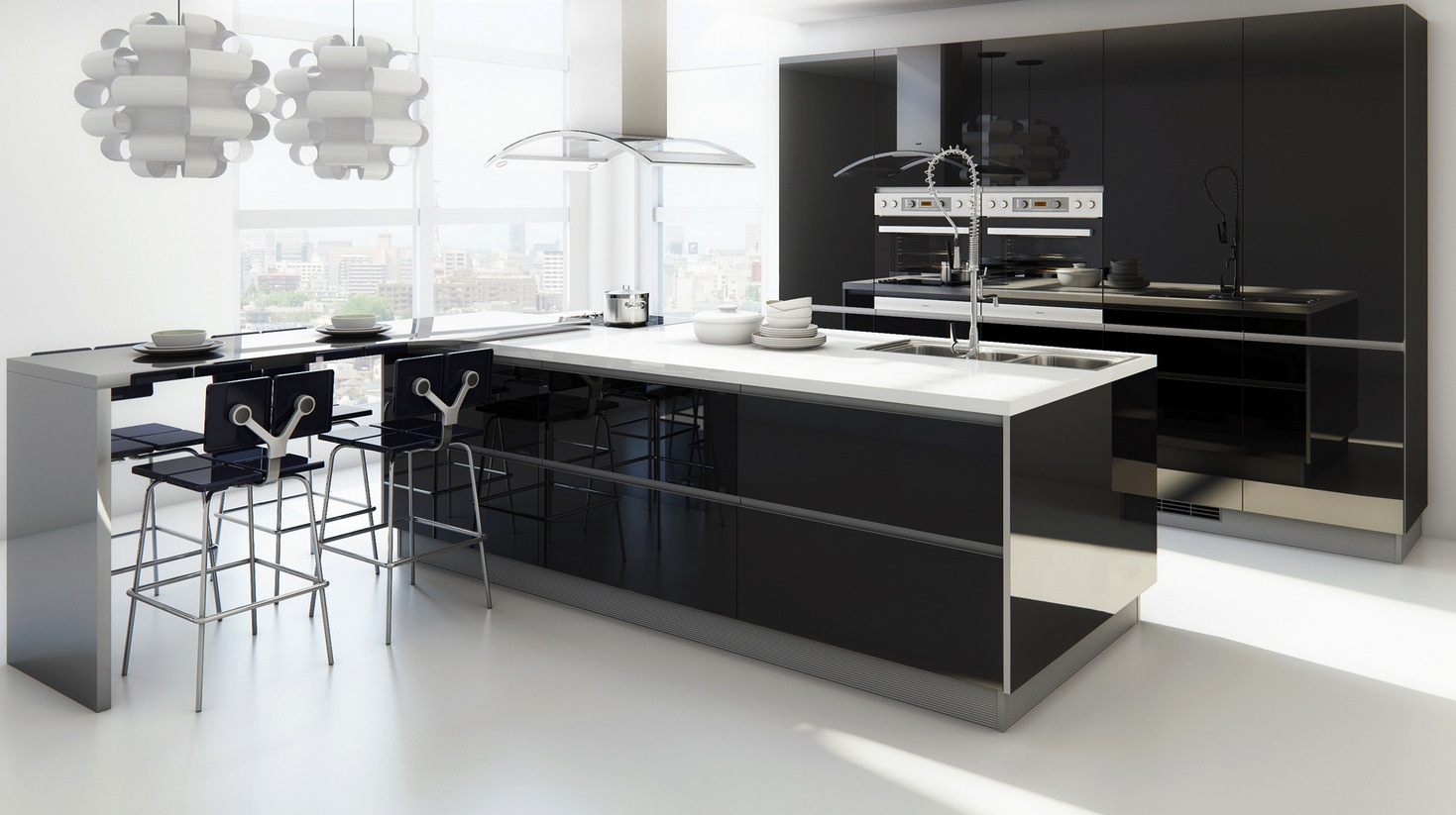 Cocinas Modenas 12 Modern Eat In Kitchen Designs