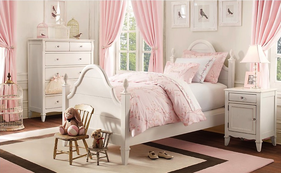 The Beautifully Conventional Girls Rooms Design Cream pink girls
