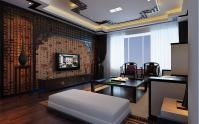 flat screen chinese feature wall lounge | Interior Design ...