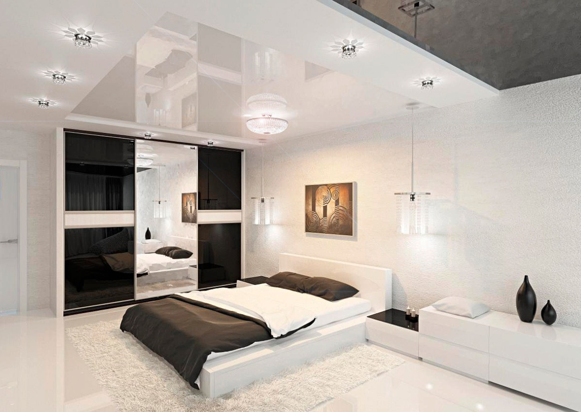 Bedroom Theme Modern Black And White Bedroom Interior Design Ideas