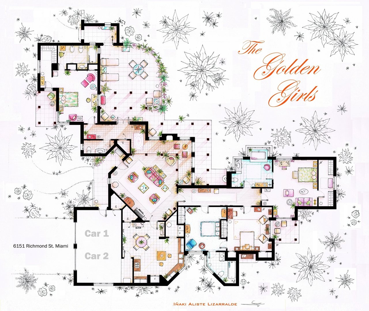 floor plans homes famous tv shows floor plans