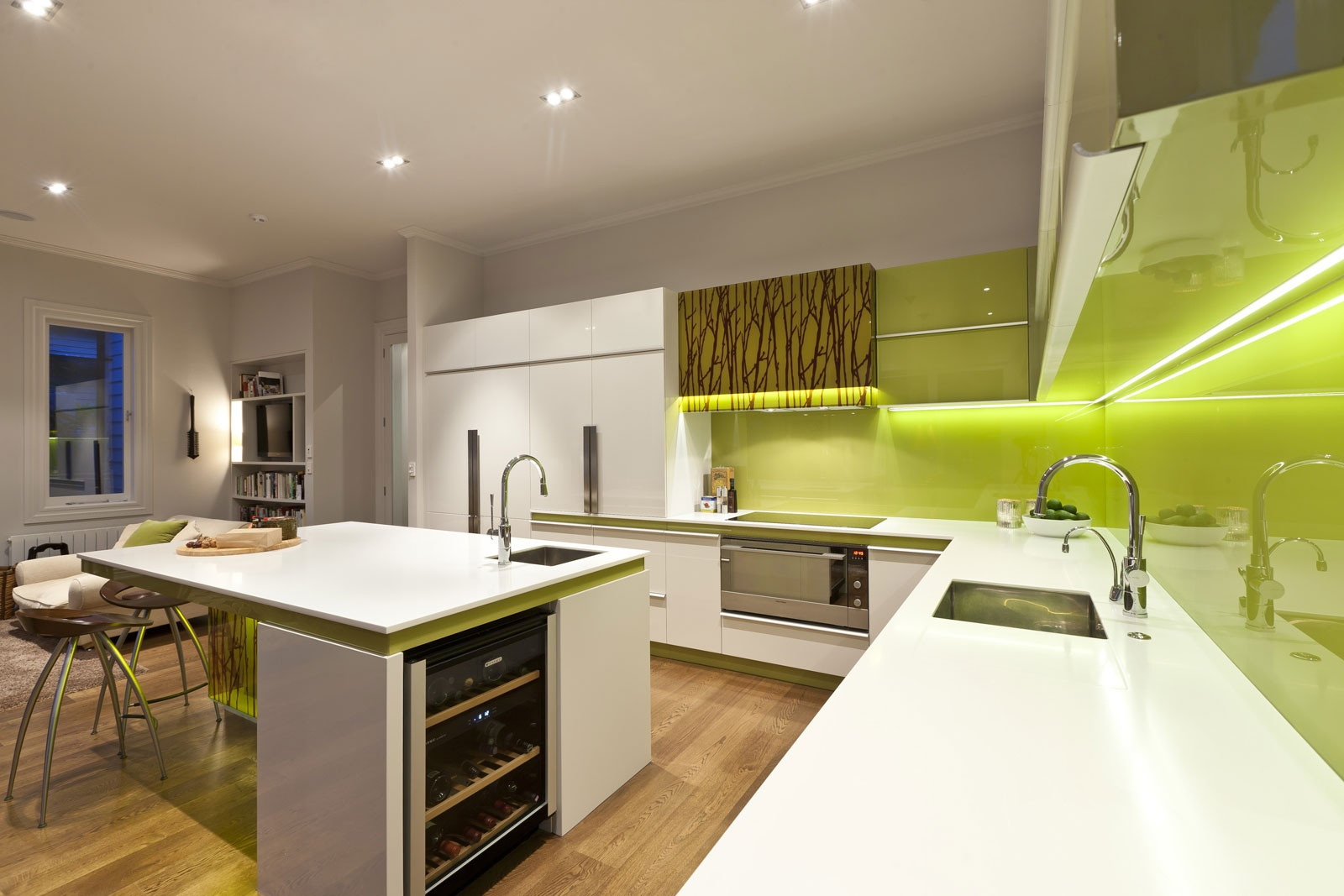 White Green Kitchen Ideas Green And White Modern Kitchen 2 | Interior Design Ideas.