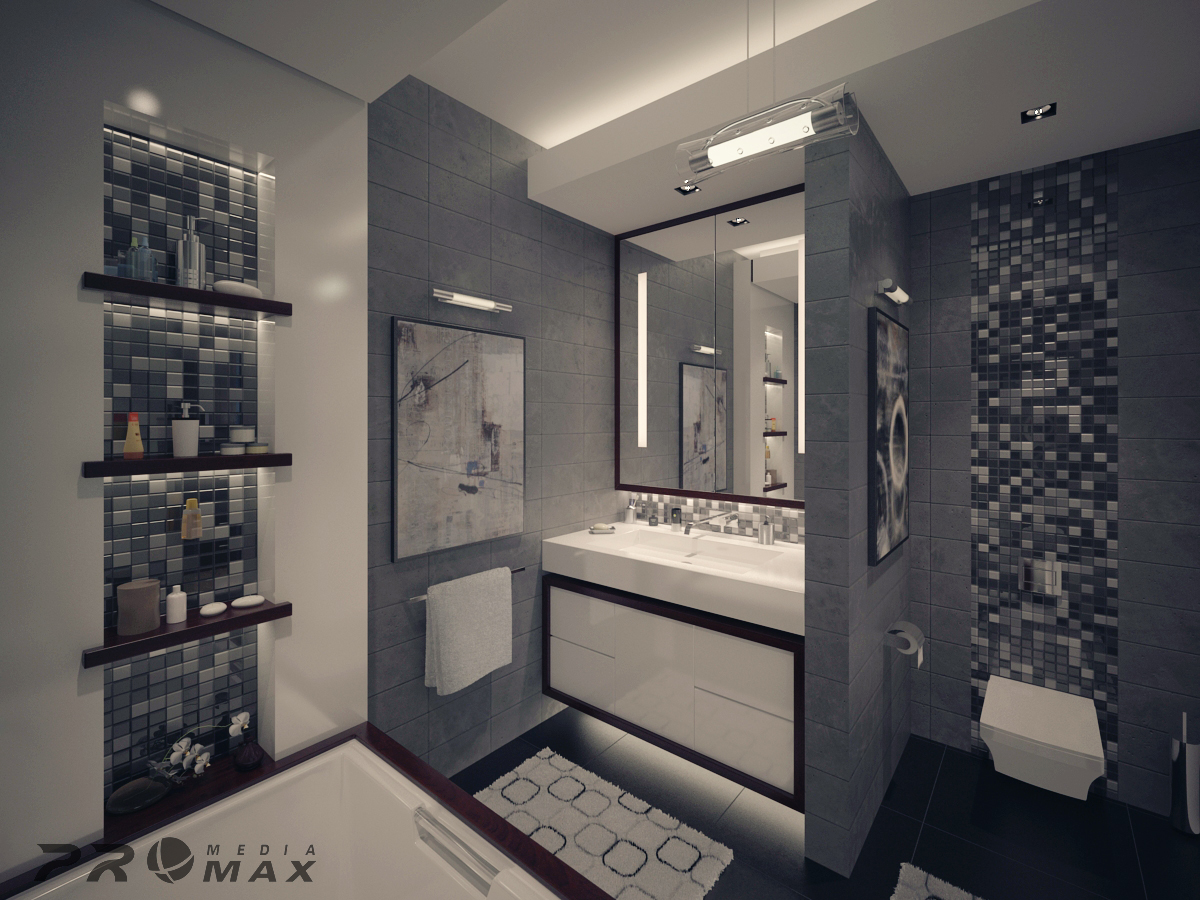 Modern Apartment 1 Bathroom 2interior Design Ideas