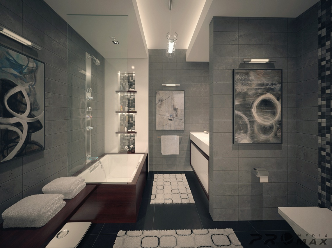 Modern Apartment 1 Bathroominterior Design Ideas