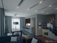 modern apartment 1 living dining room | Interior Design Ideas.