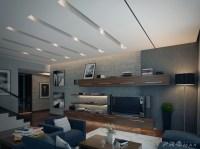 modern apartment 1 living room   Interior Design Ideas.