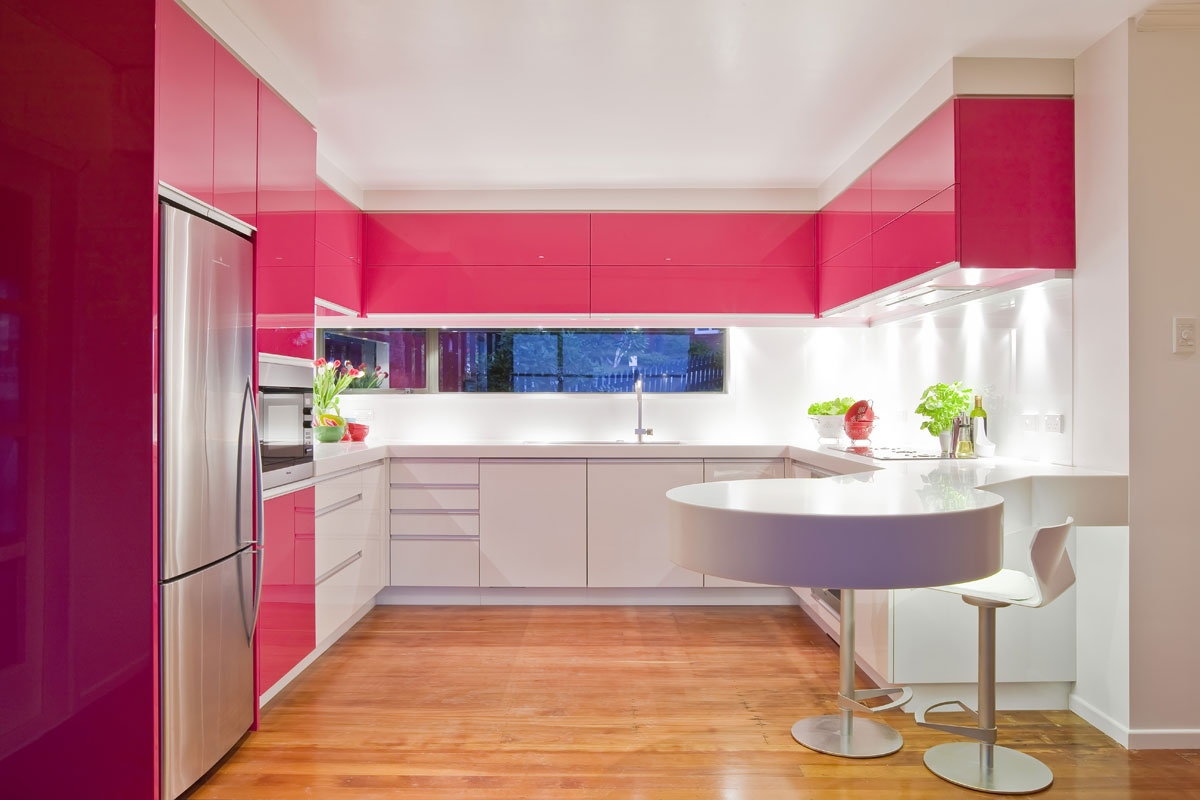 Pastel Pink Kitchen Accessories Pink Modern Kitchen Interior Design Ideas