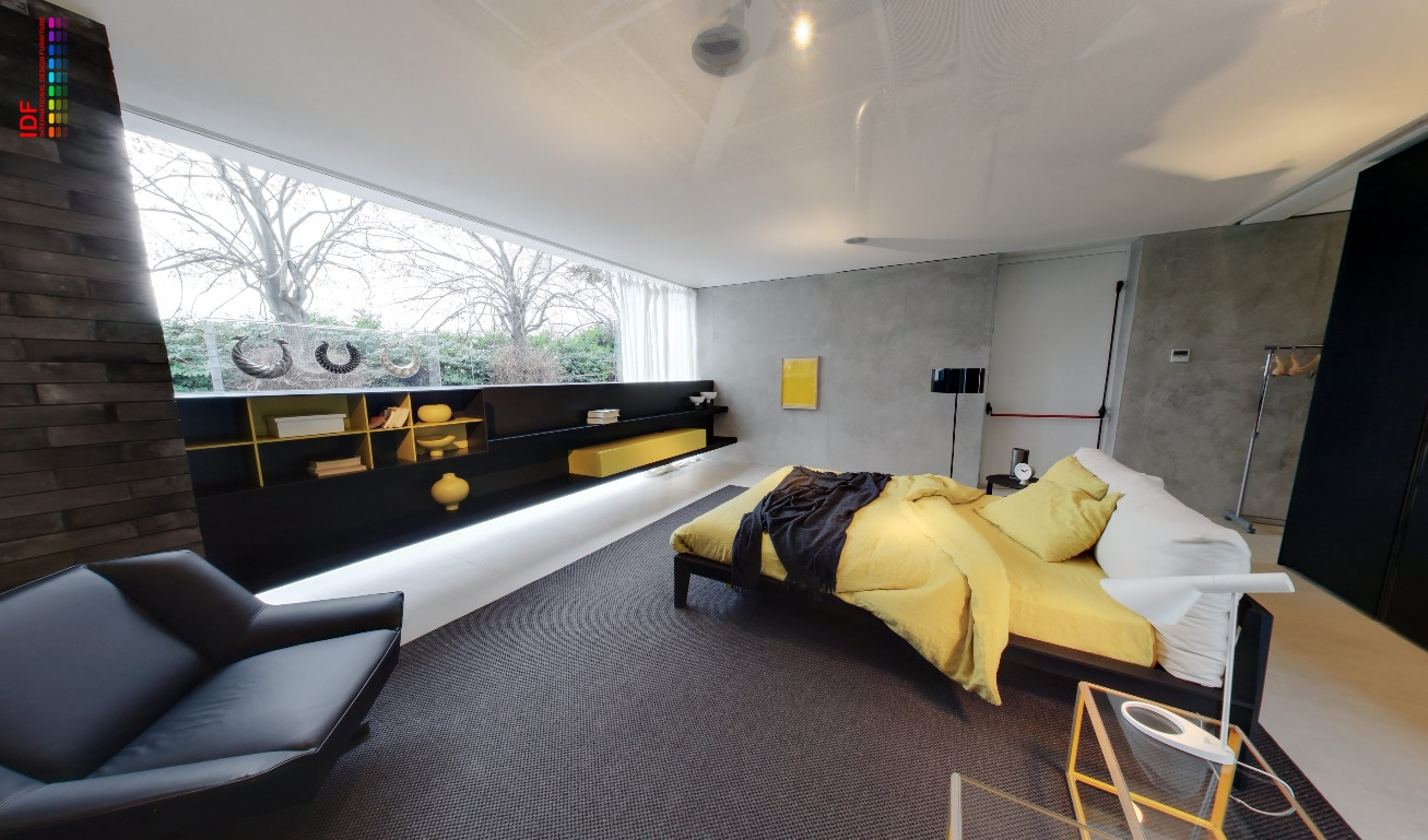 Bedroom Design Grey And Yellow Yellow And Grey Bedroom With Fitted Storage And Black