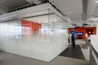 Kayak Startup Tech Office- meeting cube with graduated ...
