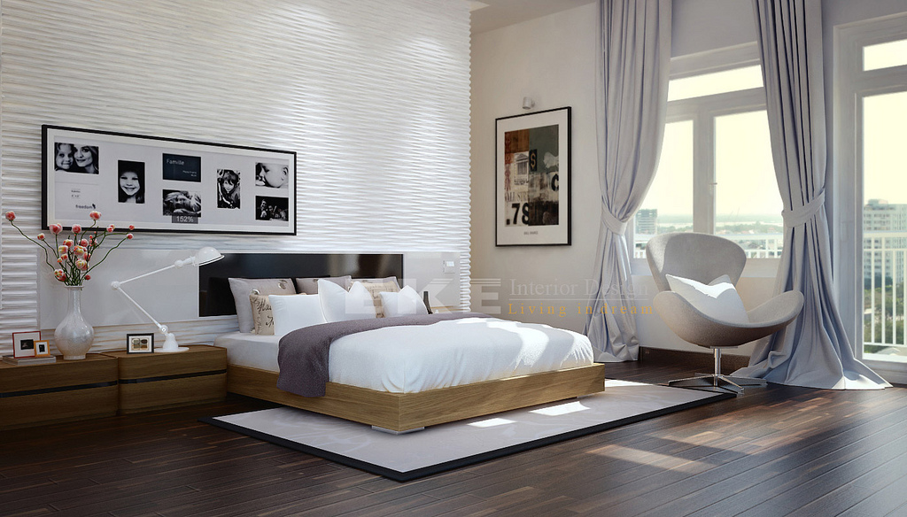 3d Brick Wallpaper South Africa Tuananh Eke S Modern White Bedroom With Heavy Silver