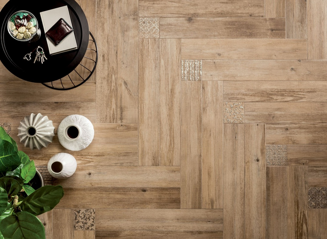 Interior Floor Design Wood Look Tiles