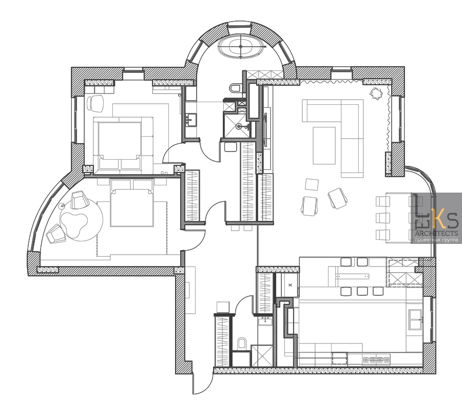 leks architects kiev apartment plan interior design ideas plantation architectural plan main floor commons