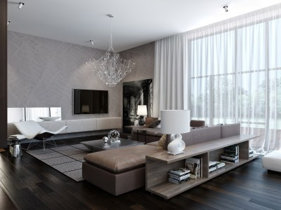 Modern House Interiors With Dynamic Texture and Pattern