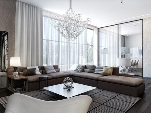Medium Of Modern House Interior Living Room