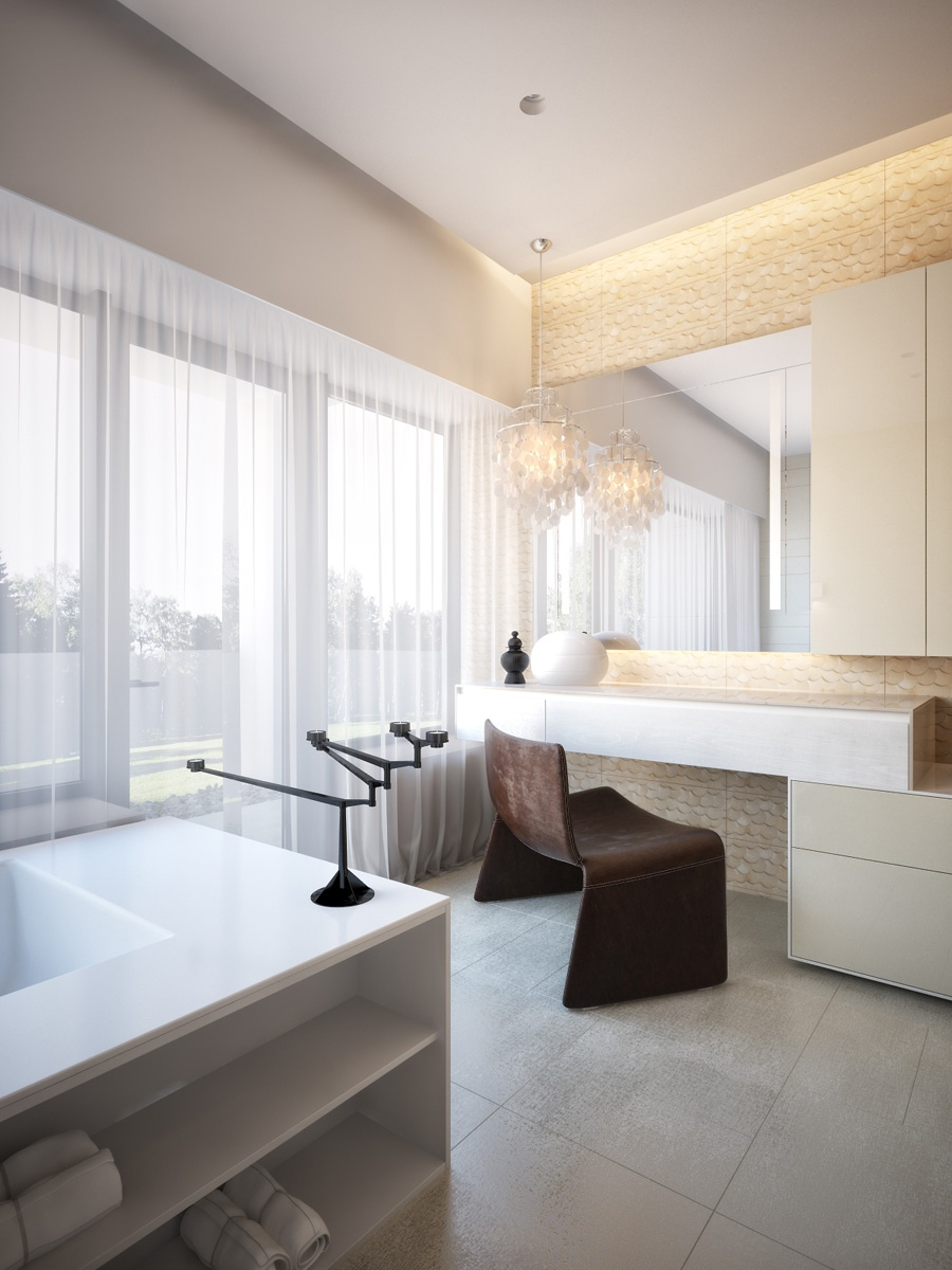 Modern Neutral Master Bathroom 1interior Design Ideas