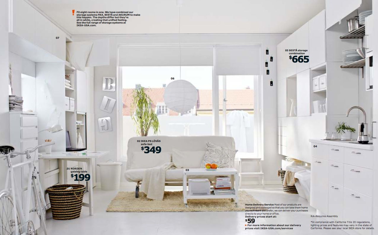 Ikea Small Space Living Interior Design Ideas