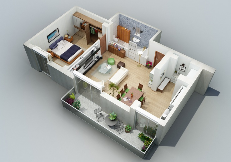Modern House Plan 2014002 Pinoy House Plans -3d floor plan - office seating plan template