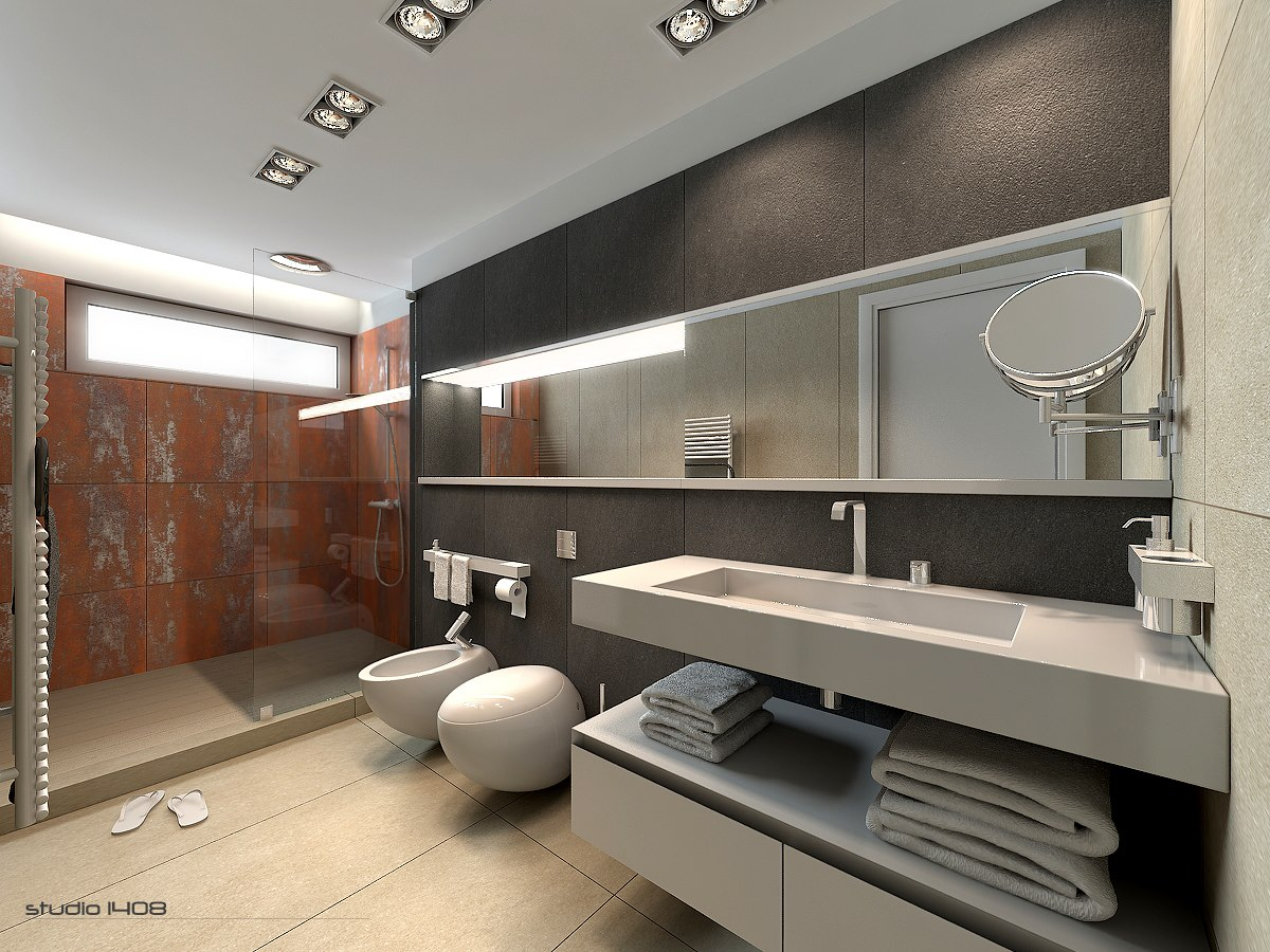 Large Apartment Bathroom Interior Design Ideas