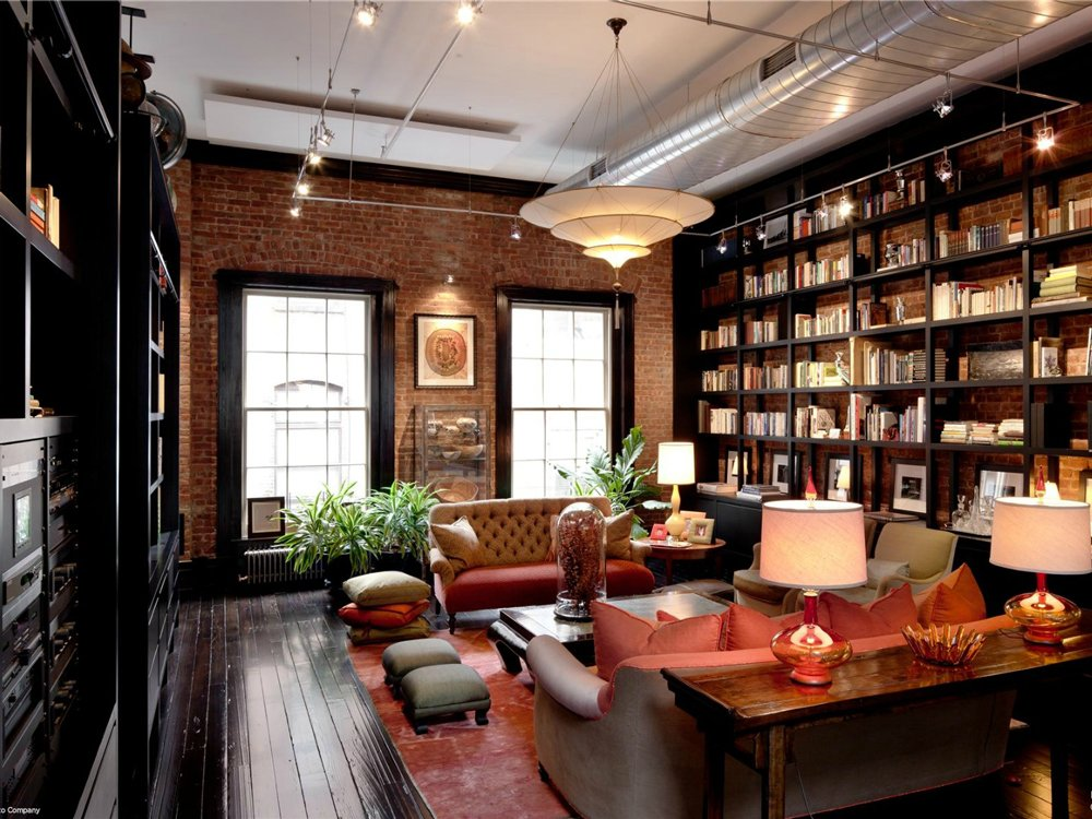 Mansion loft library den interior design ideas