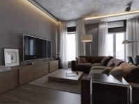 1 monochrome grey living room   Interior Design Ideas.