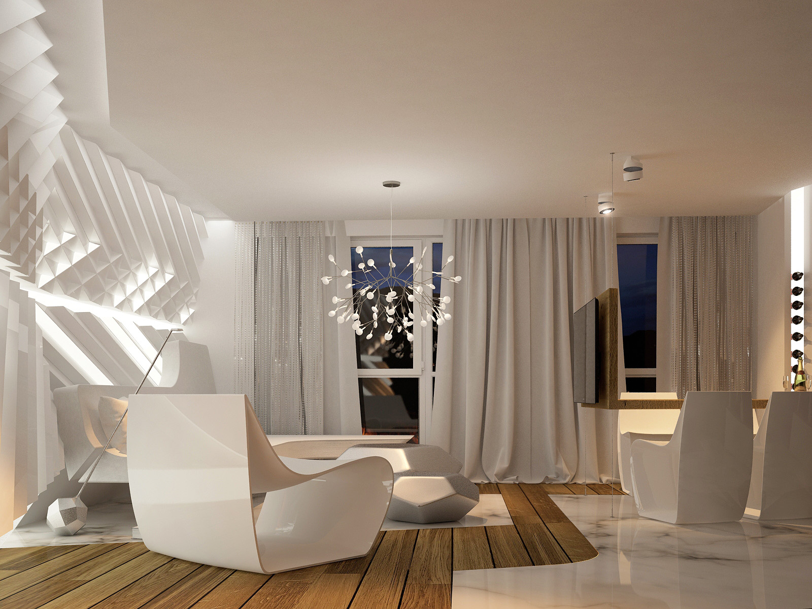 Interior Decoration Futuristic Interior Design
