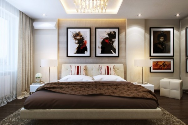 P O P Fall Ceiling Wallpaper Small Bedrooms Use Space In A Big Way