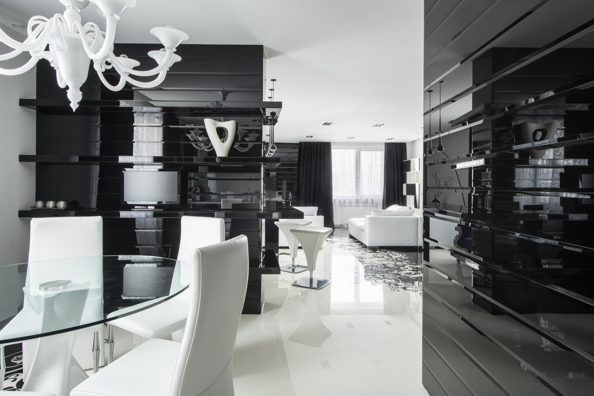 Dining Room Black And White Black And White Graphic Decor