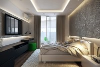 White green black bedroom | Interior Design Ideas.