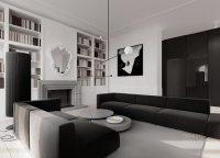 Monochrome living room decor | Interior Design Ideas.
