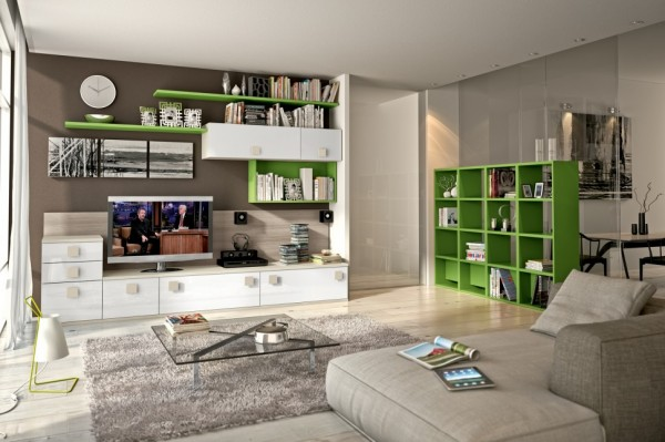 Modern Living Room Wall Units With Storage Inspiration - living room shelf unit