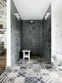 Patterned shower room tiles | Interior Design Ideas.