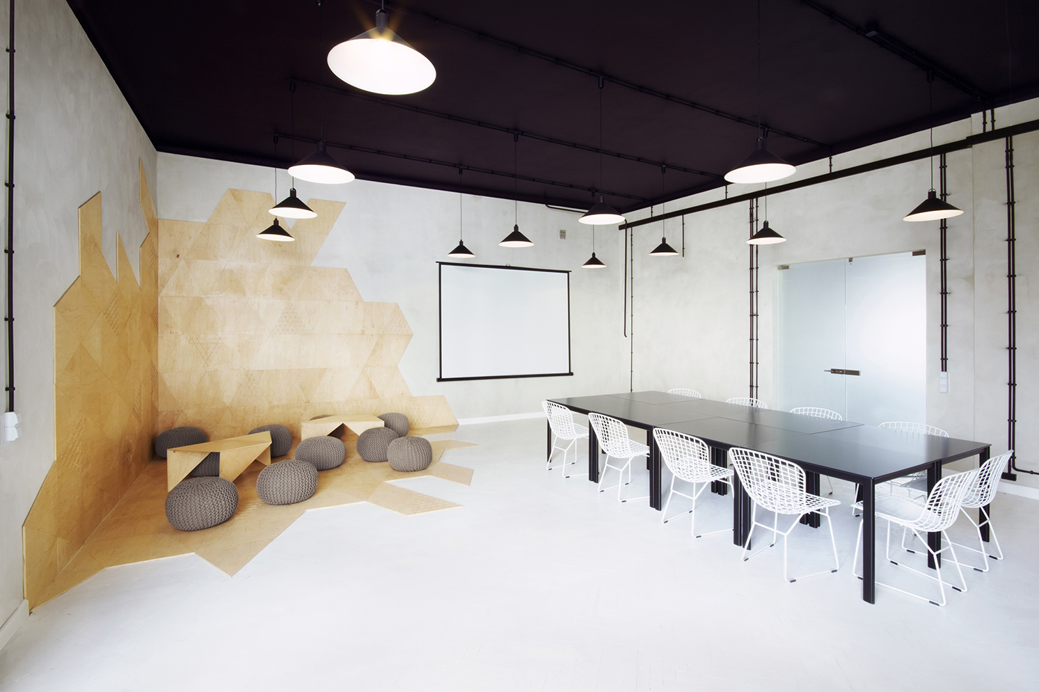 Meeting Room Design Industrial Style Apartment With Meeting Room