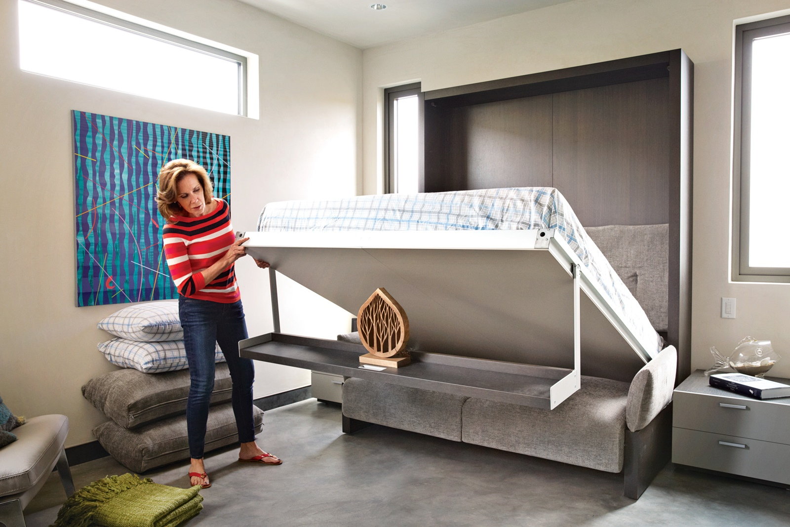 Fold Out Beds For Small Spaces Bryan Cranston 39s House