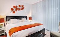 Orange white bedroom | Interior Design Ideas.
