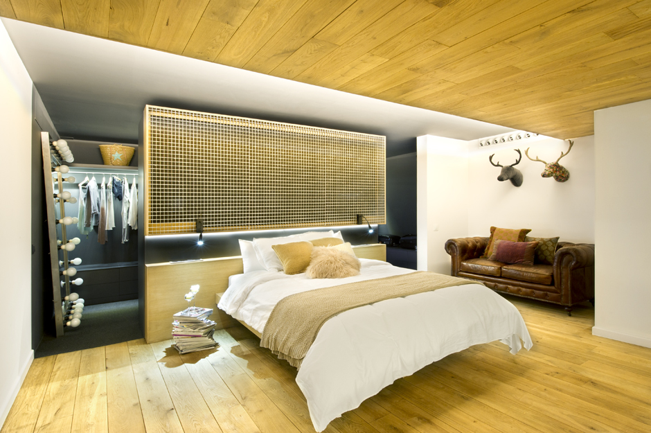 Bett Mit Begehbarem Kleiderschrank Wood Clad Bedroom | Interior Design Ideas.