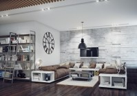 Industrial style living room | Interior Design Ideas.