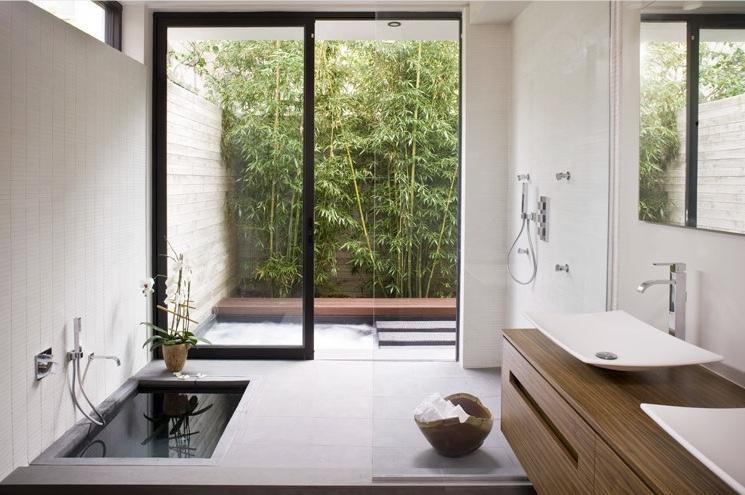 zen bathroom sunken bath tub interior design ideas zen bathroom design