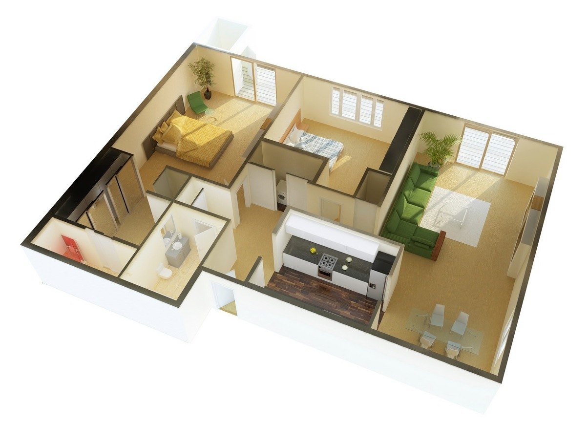 2 Bedroom Design Small House 2 Bedroom Apartment House Plans