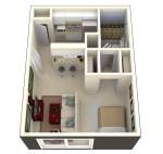 Square Feet Studio Apartment Floor Plans