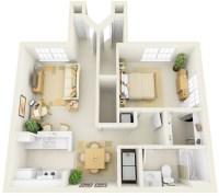 1 Bedroom Apartment/House Plans | smiuchin