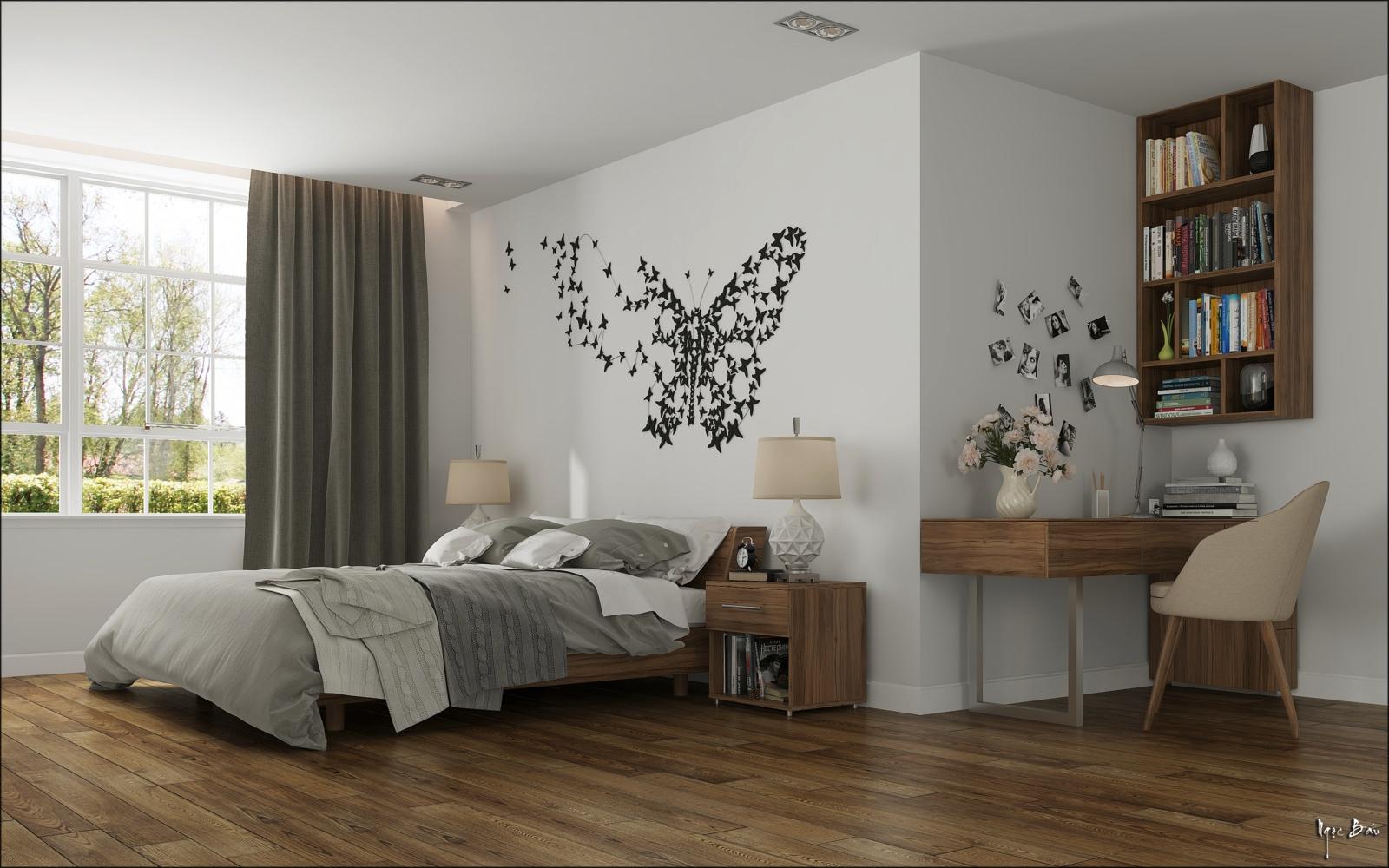 bedroom butterfly wall art