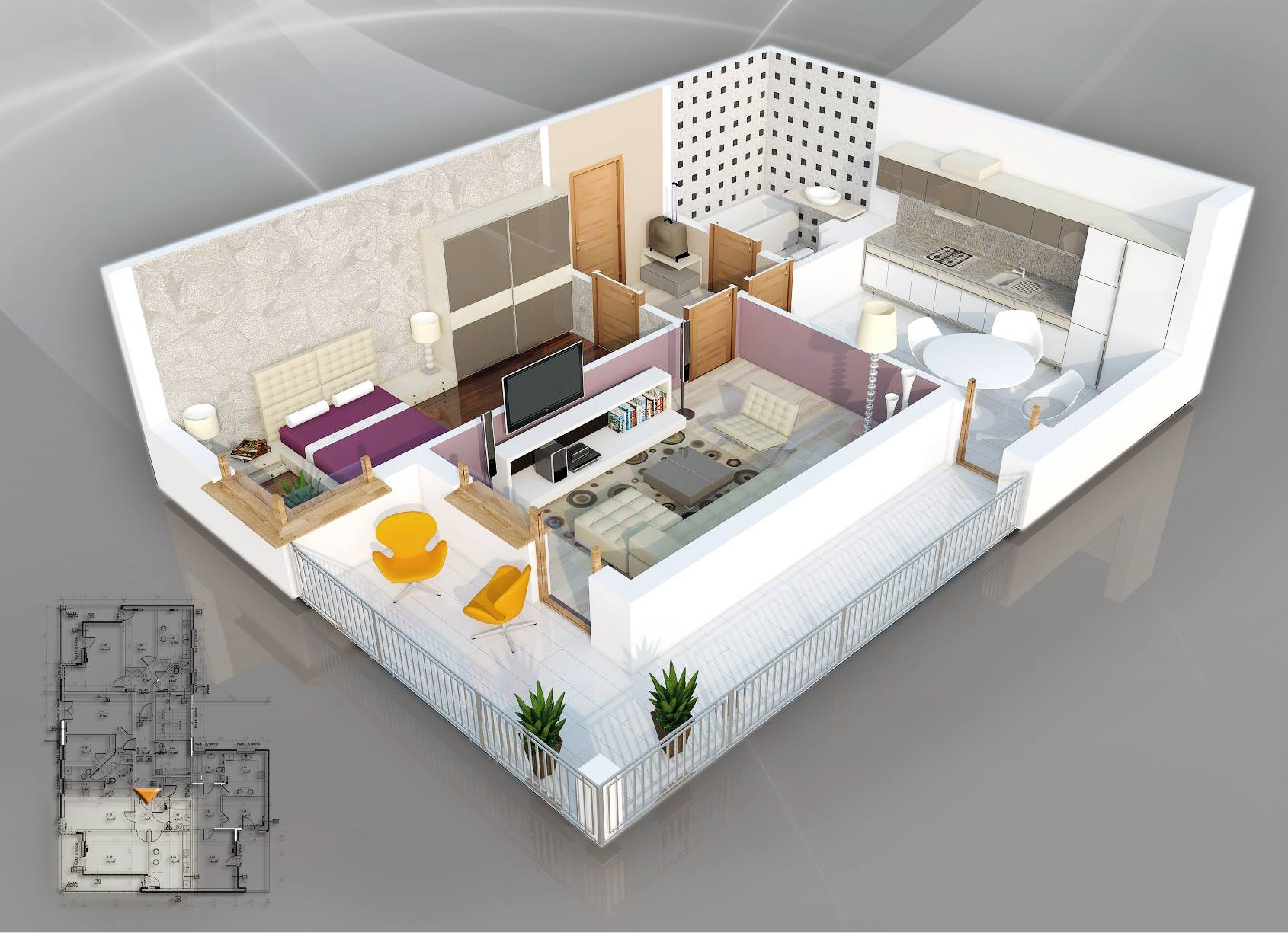 One Room Floor Plans 1 Bedroom Apartment House Plans