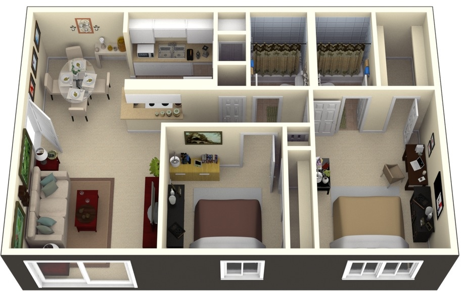 bay oaks enjoy mirrored bathrooms bedrooms bedroom apartment house plans