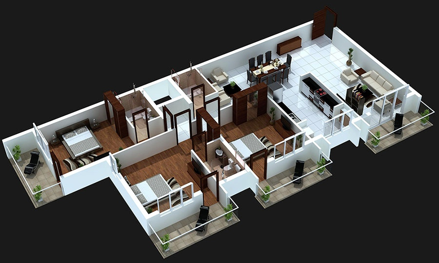 Local Home Designers 3 New At Custom Free Bedroom House Plans 1210 - 3 bedroom house plans