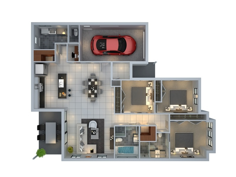 bedroom apartment house plans floor plans