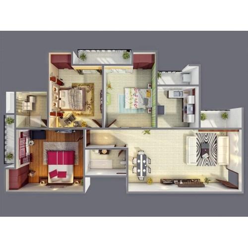 Medium Crop Of 3 Bedroom House