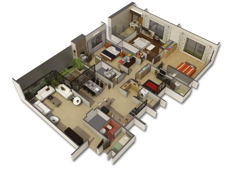 bedroom apartment house plans house layout row house layout modern house plan modern house plan