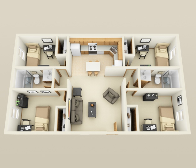 source site apartments compact dream house bedroom iroonie