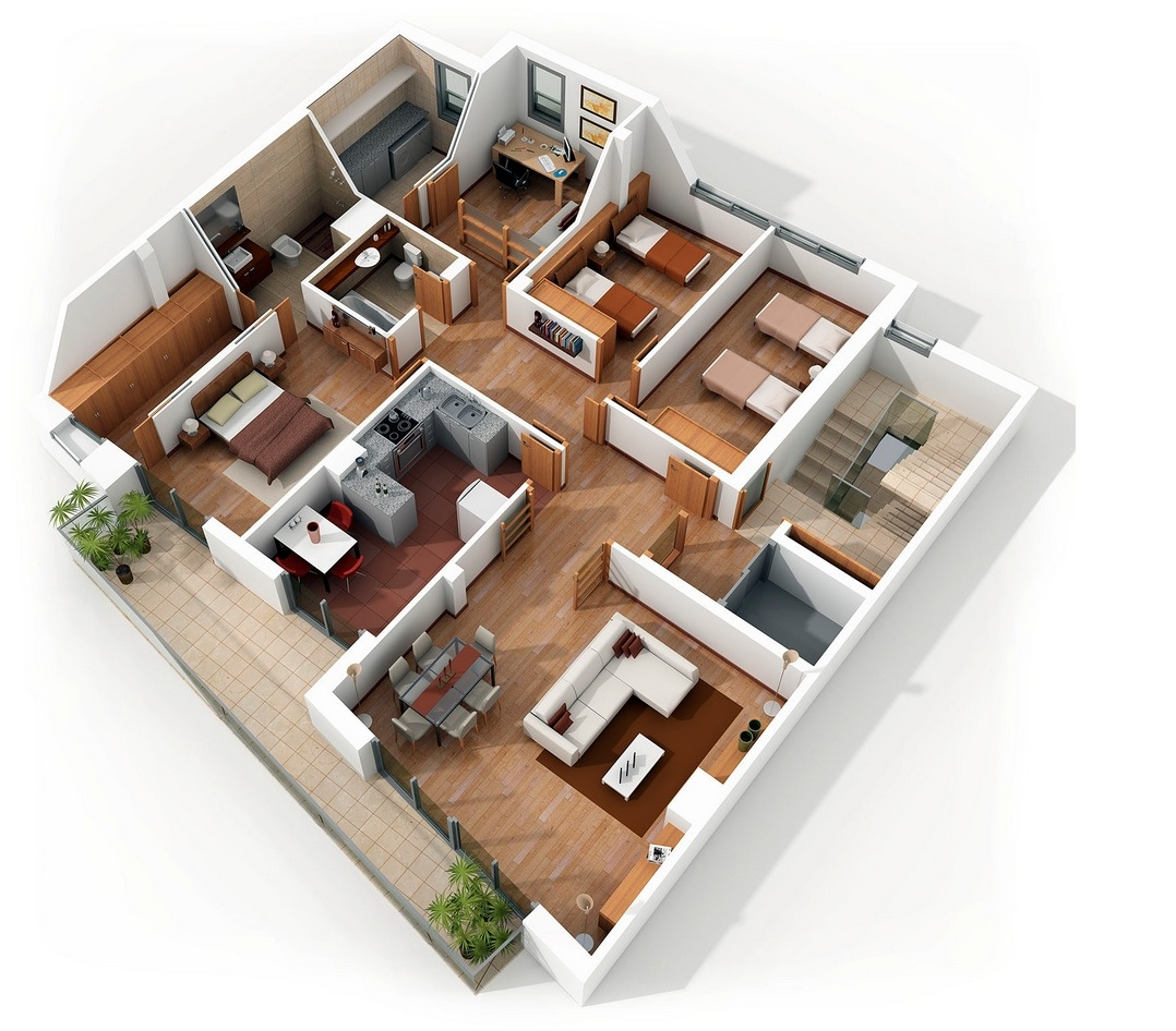 bedroom apartment house plans home design layout part