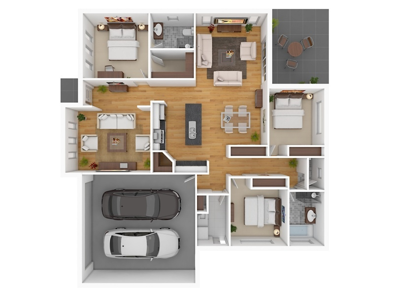 bedroom apartment house plans floor plan design bedroom townhouse car garage floor plans